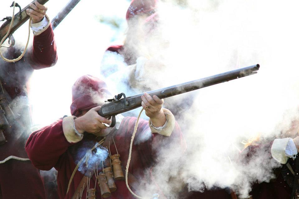 Musketeer firing