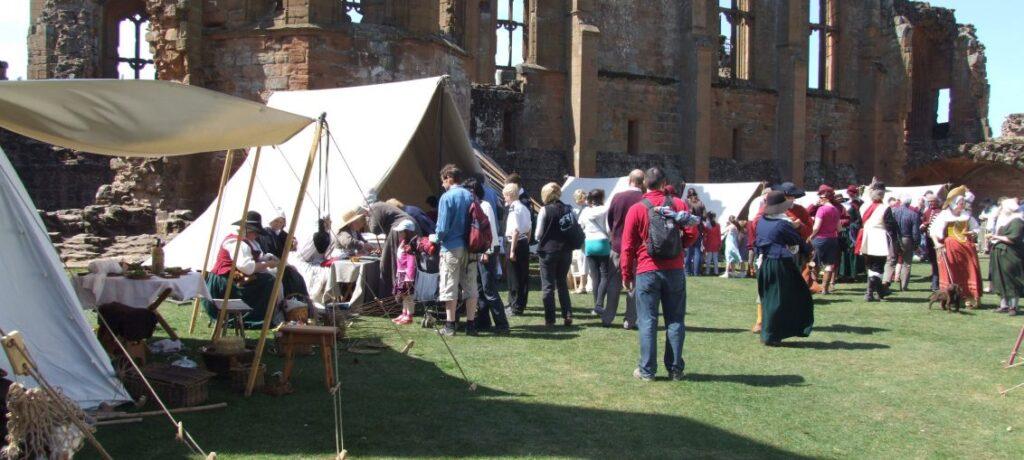 Living history display at Newark Castle